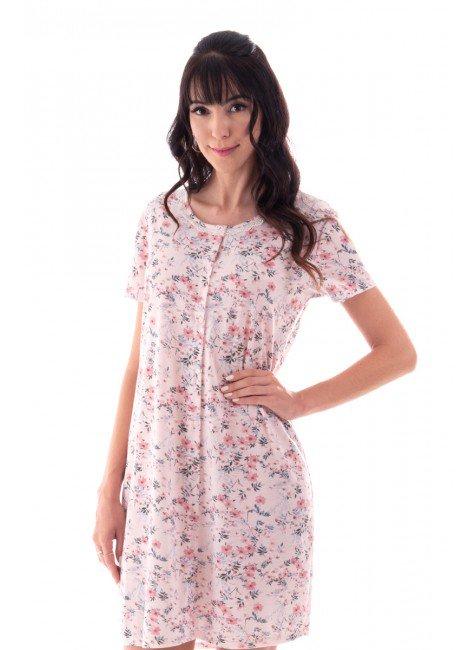 camisola feminina estampada floral abotoamento funcional ohzen 4