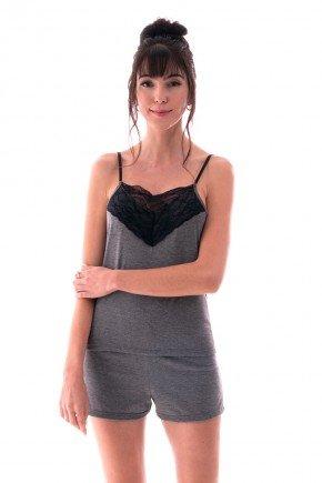 pijama feminino shortdoll curto alca com decote em renda ohzen 4