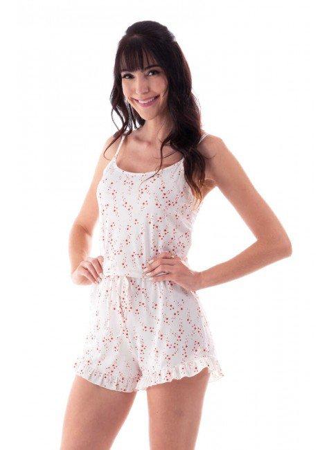 pijama feminino macaquinho estampado estrelas alca com babado ohzen 4