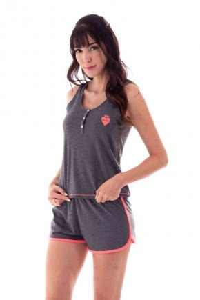 pijama feminino regata decote costas nadador com bordado ohzen 4
