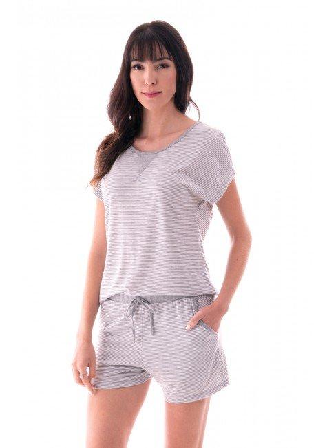 pijama feminino curto listrado ohzen mescla 4