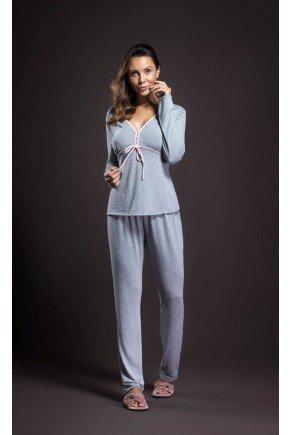 pijama feminino longo com abertura frontal ohzentr
